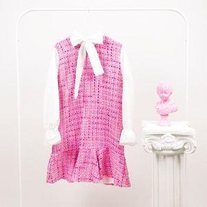 BNWT Sister Jane Bubblegum Pink Tweed Mini Dress